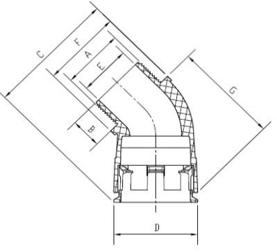 Rl45elbow Fitting Fixed External Thread